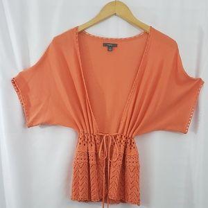 Apt 9: Orange Cardigan Sweater